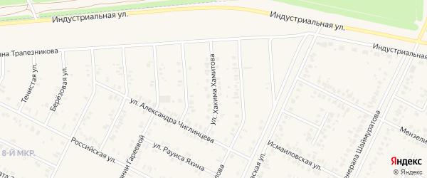 Улица Хакима Хамитова на карте Дюртюлей с номерами домов