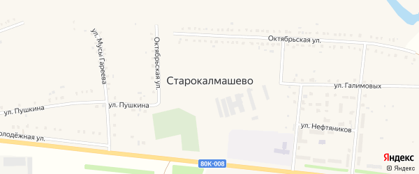 Улица Пушкина на карте села Старокалмашево с номерами домов