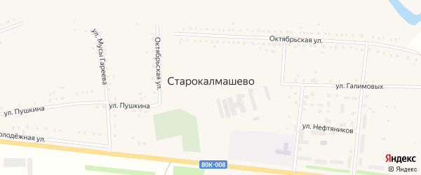 Улица 55 лет Победы на карте села Старокалмашево с номерами домов