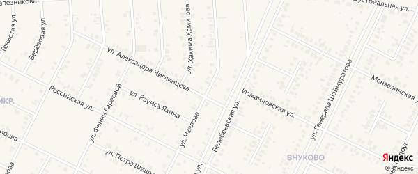 Улица Валерия Чкалова на карте Дюртюлей с номерами домов