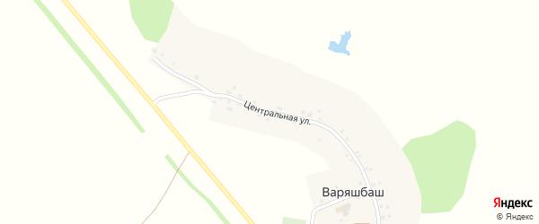 Центральная улица на карте деревни Варяшбаша с номерами домов