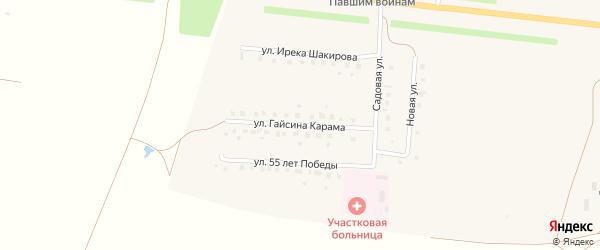 Улица Гайсина Карама на карте села Старокалмашево с номерами домов