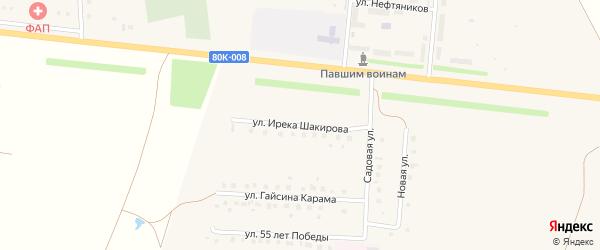 Улица Ирека Шакирова на карте села Старокалмашево с номерами домов