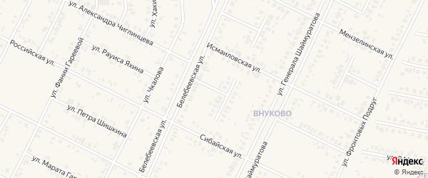Московская улица на карте Дюртюлей с номерами домов