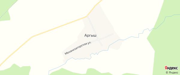 Карта деревни Аргыша в Башкортостане с улицами и номерами домов