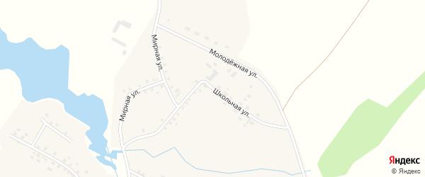 Школьная улица на карте села Таймурзино с номерами домов