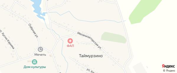 Механизаторская улица на карте села Таймурзино с номерами домов