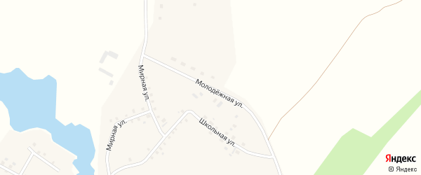 Молодежная улица на карте села Таймурзино с номерами домов