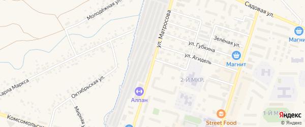 Улица Матросова на карте Дюртюлей с номерами домов