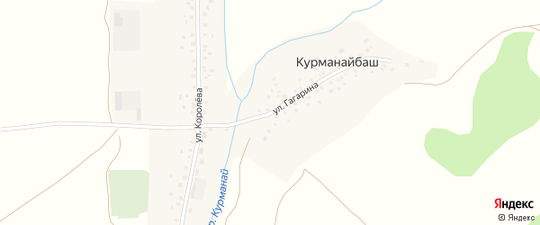 Улица Гагарина на карте деревни Курманайбаша с номерами домов