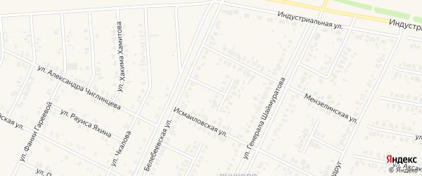 Асяновская улица на карте Дюртюлей с номерами домов