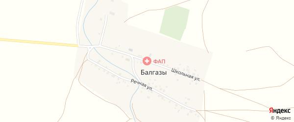 Школьная улица на карте деревни Балгазы с номерами домов