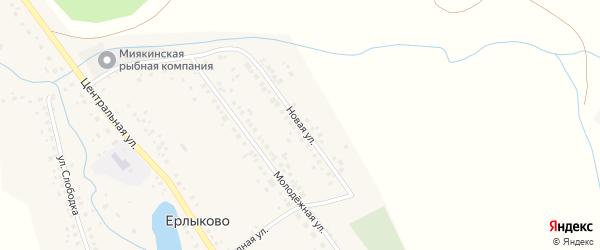 Новая улица на карте села Ерлыково с номерами домов