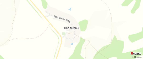 Карта деревни Варяшбаша в Башкортостане с улицами и номерами домов