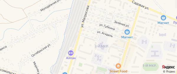 Улица Нефтяников на карте Дюртюлей с номерами домов
