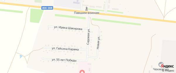 Садовая улица на карте села Старокалмашево с номерами домов