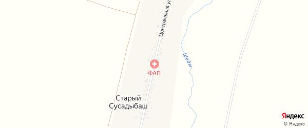 Центральная улица на карте деревни Старого Сусадыбаша с номерами домов