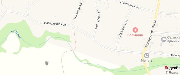 Набережная улица на карте села Старокучербаево с номерами домов