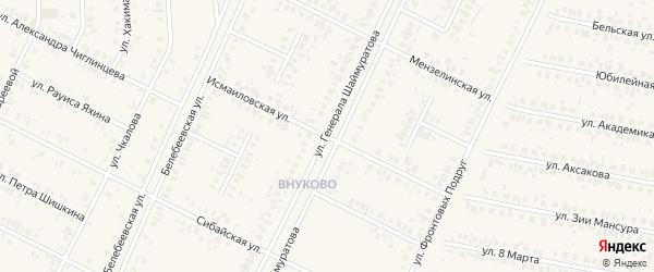 Исмайловская улица на карте Дюртюлей с номерами домов