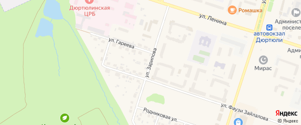 Улица Зиннура Зарипова на карте Дюртюлей с номерами домов