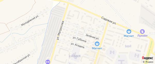 Зеленая улица на карте Дюртюлей с номерами домов