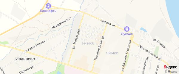 НСТ Агидель на карте Дюртюлей с номерами домов
