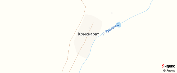 Лесная улица на карте деревни Крыкнарата с номерами домов