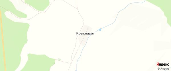 Карта деревни Крыкнарата в Башкортостане с улицами и номерами домов