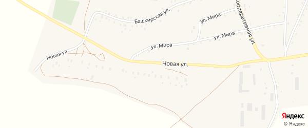 Новая улица на карте села Старокучербаево с номерами домов