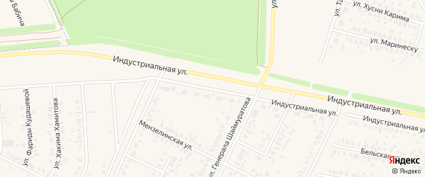 Индустриальная улица на карте Дюртюлей с номерами домов