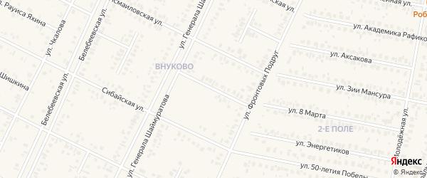 Анастасьевская улица на карте Дюртюлей с номерами домов