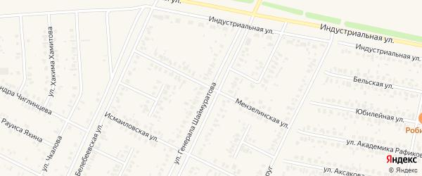 Мензелинская улица на карте Дюртюлей с номерами домов