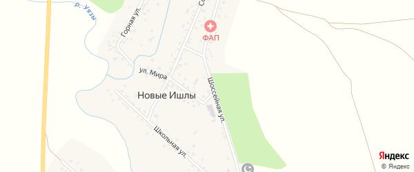 Горная улица на карте села Новые Ишлы с номерами домов