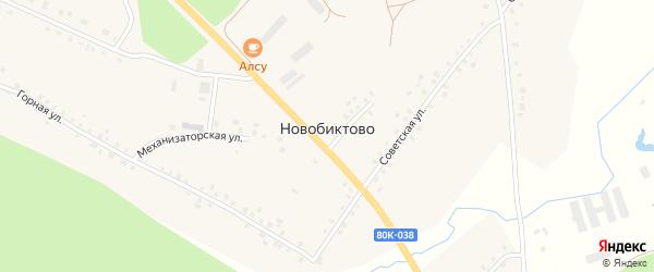 Улица Агидель на карте села Новобиктово с номерами домов