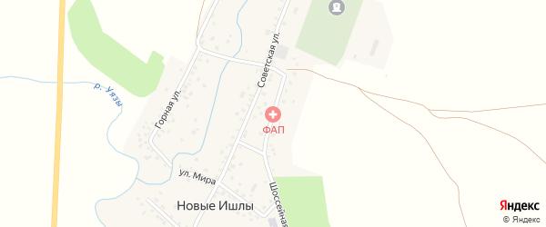 Центральная улица на карте села Новые Ишлы с номерами домов