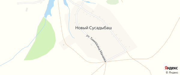 Улица Тимирьяна Манаева на карте деревни Нового Сусадыбаша с номерами домов