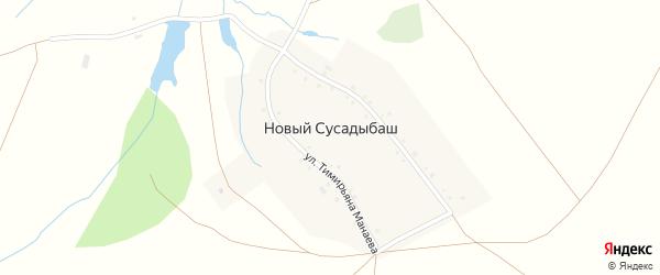 Улица Михаила Исиметова на карте деревни Нового Сусадыбаша с номерами домов