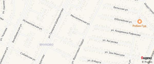 Ельдякская улица на карте Дюртюлей с номерами домов