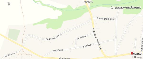 Башкирская улица на карте села Старокучербаево с номерами домов
