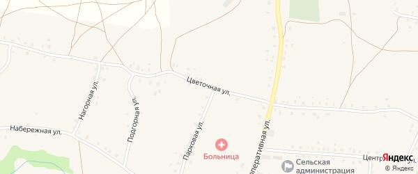 Цветочная улица на карте села Старокучербаево с номерами домов