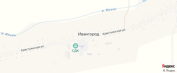 Улица Царичанка на карте деревни Ивангорода с номерами домов