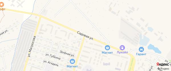 Садовая улица на карте Дюртюлей с номерами домов
