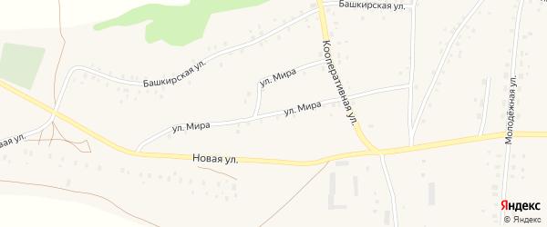 Улица Мира на карте села Старокучербаево с номерами домов