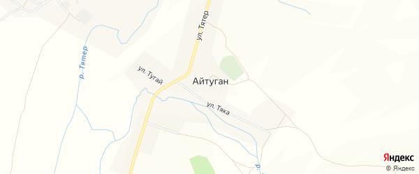 Карта села Айтугана в Башкортостане с улицами и номерами домов