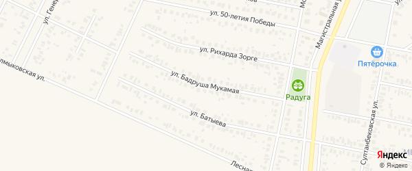 Бадруша Мукамая улица на карте Дюртюлей с номерами домов