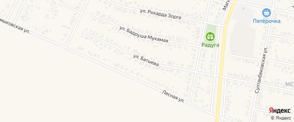 Улица Батыева на карте Дюртюлей с номерами домов