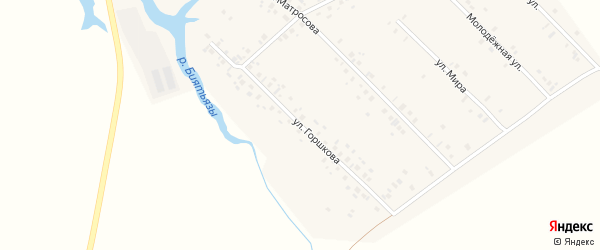 Улица Горшкова на карте села Старосултанбеково с номерами домов