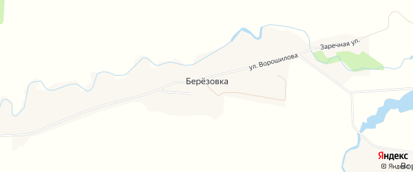 Карта села Березовки в Башкортостане с улицами и номерами домов