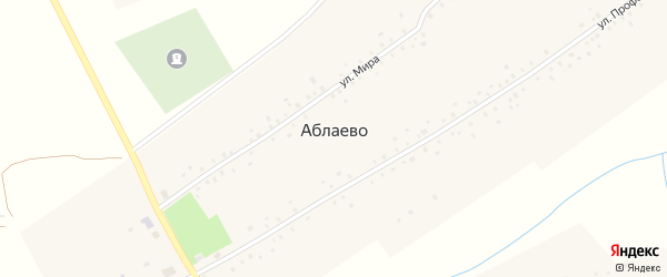 Садовая улица на карте села Аблаево с номерами домов