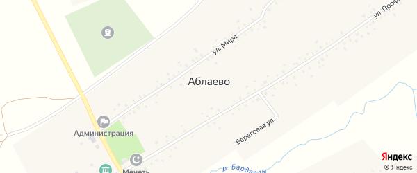 Береговая улица на карте села Аблаево с номерами домов
